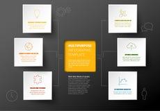 Calibre foncé minimaliste d'Infographic de vecteur illustration de vecteur