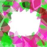 Calibre géométrique abstrait de bannière de carte avec le losange et les éléments contemporains décoratifs brillants vert marron  Images libres de droits