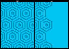 Calibre géométrique bleu de fond d'abrégé sur modèle illustration de vecteur