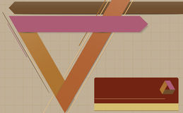 Calibre géométrique moderne. Image stock