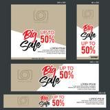Calibre grand de bannière de vente Photographie stock libre de droits