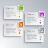 Calibre graphique de conception d'options d'infos Photo stock
