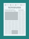 Calibre graphique de journal de conception, accentuant des chiffres et la moquerie de vecteur de témoignages d'un quotidien vide illustration de vecteur