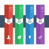 Calibre graphique des informations sur la conception pour des bannières, des milieux d'affaires et la présentation Images libres de droits