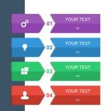 Calibre graphique des informations sur la conception pour des bannières, des milieux d'affaires et la présentation Photo stock