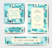Calibre grunge moderne de carte postale de brosse Photographie stock libre de droits