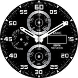 Calibre H de montre Image stock