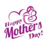 Calibre heureux de carte de voeux de jour de mères Image libre de droits