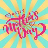 Calibre heureux de carte de voeux de jour de mères Photo stock