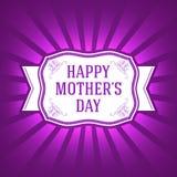 Calibre heureux de fête des mères Éléments de vecteur Illustration d'isolement de cadeau d'ornement EPS10 Photo libre de droits