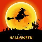 Calibre heureux de Halloween pour l'invitat de carte, d'insecte ou de partie illustration stock