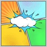 Calibre humoristique de style de page de bruit-art comique Photos stock