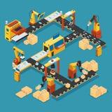 Calibre industriel isométrique d'usine illustration stock