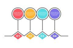 Calibre infographic abstrait avec 4 étapes pour le succès Calibre de milieu économique avec des options pour la brochure, diagram Illustration Libre de Droits