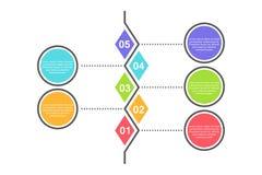 Calibre infographic abstrait avec 5 étapes pour le succès Calibre de milieu économique avec des options pour la brochure, diagram Illustration de Vecteur