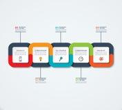 Calibre infographic abstrait Concept d'affaires avec 5 options, étapes, pièces illustration stock