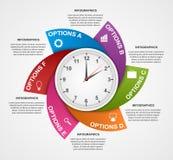 Calibre infographic abstrait de conception Images libres de droits