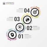 Calibre infographic abstrait de conception Concept d'affaires Vecteur Photo stock
