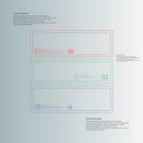 Calibre infographic carré divisé à trois parts de doubles contours illustration libre de droits