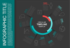 Calibre infographic circulaire de chronologie Photo stock