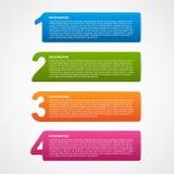 Calibre infographic créatif d'options de nombre Images libres de droits
