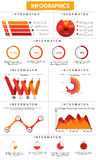 Calibre infographic d'affaires élégantes pour la présentation professionnelle Photos stock
