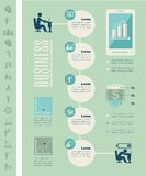 Calibre infographic d'affaires Image stock