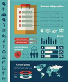 Calibre infographic d'affaires Photos stock