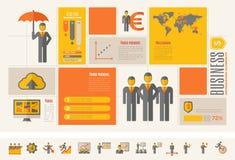 Calibre infographic d'affaires Photos libres de droits