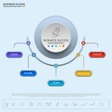 Calibre infographic d'affaires de cercle réussi de concept illustration libre de droits