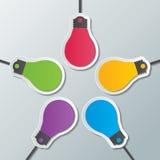 Calibre infographic d'ampoule de papier illustration de vecteur