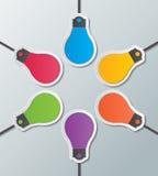 Calibre infographic d'ampoule de papier illustration stock
