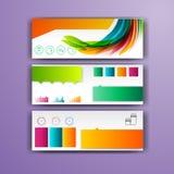 Calibre infographic d'entreprise avec des éléments de couleur Dirigez le style d'affaires de société pour le brandbook, le rappor Images stock