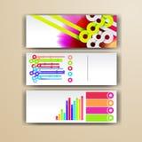 Calibre infographic d'entreprise avec des éléments de couleur Dirigez le style d'affaires de société pour le brandbook, le rappor Photos stock