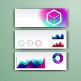 Calibre infographic d'entreprise avec des éléments de couleur Dirigez le style d'affaires de société pour le brandbook, le rappor Photo stock