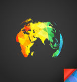 Calibre infographic de carte du monde Photo libre de droits
