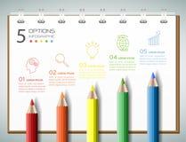 Calibre infographic de concept d'affaires de calibre de conception Image libre de droits
