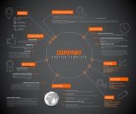Calibre infographic de conception d'aperçu de société Image stock