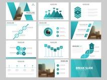 Calibre infographic de présentation d'éléments de paquet bleu rapport annuel d'affaires, brochure, tract, insecte de publicité, illustration stock