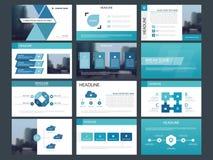 Calibre infographic de présentation d'éléments de paquet bleu de triangle rapport annuel d'affaires, brochure, tract, insecte de  illustration de vecteur