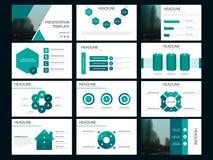 Calibre infographic de présentation d'éléments de paquet vert rapport annuel d'affaires, brochure, tract, insecte de publicité, illustration de vecteur