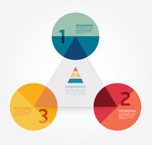 Calibre infographic de style minimal de conception moderne. Photographie stock libre de droits
