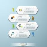 Calibre infographic de style minimal de conception moderne avec des nombres Image stock