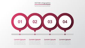 Calibre infographic de vecteur Photo stock