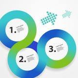 Calibre infographic de Web de cercle Image libre de droits