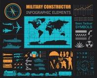 Calibre infographic militaire Illustration de vecteur avec le powe supérieur Photographie stock