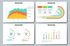 Calibre infographic minimal de brochure Photo stock