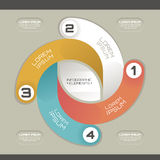 Calibre infographic moderne Photos stock