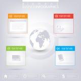 Calibre infographic moderne de réseau avec l'endroit pour illustration de vecteur