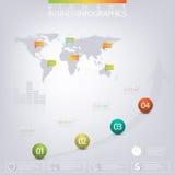 Calibre infographic moderne du réseau 3D avec l'endroit Images libres de droits